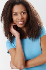 Portrait of attractive afro-american woman smiling