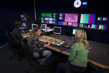Crew in TV Broadcast Gallery