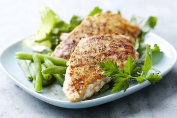 Printed kitchen splashbacks Ready meals chicken breast fillet