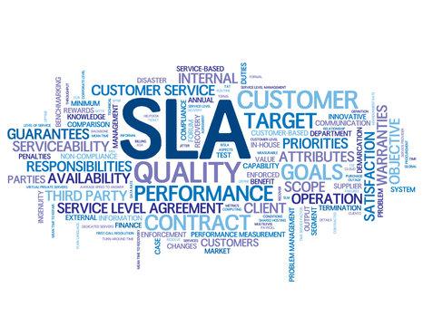 """SLA"" Tag Cloud (service level agreement business performance)"