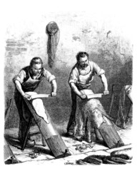 Tanners - Tanneurs - Gerber - 19th century