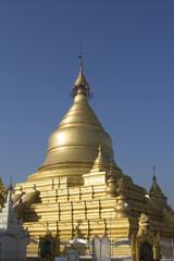 The famous burmese pagoda in Mandalay, Myanmar