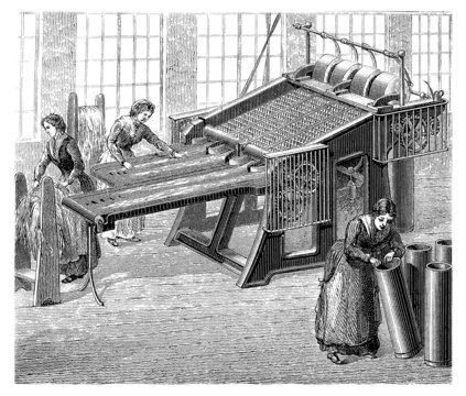 Factory Girls : Textile Industry - 19th century