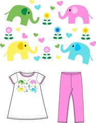 pattern for children fashion industry