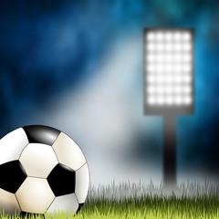 Fußball - Stadionatmosphäre bei Flutlicht