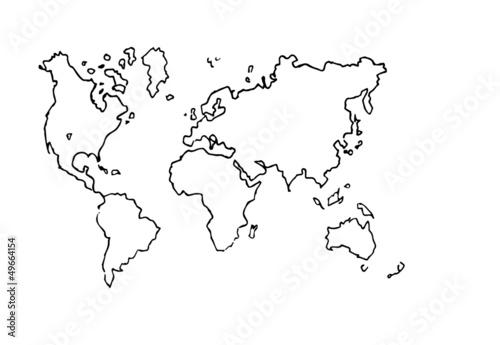 Planisfero stock image and royalty free vector files on for Mappa mondo bianco e nero