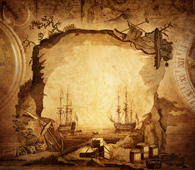 Wall Murals Ship adventure stories background