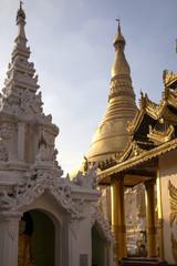 Myanmar Stupas at sunset
