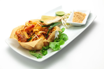 Thai style stir noodle with vegetable
