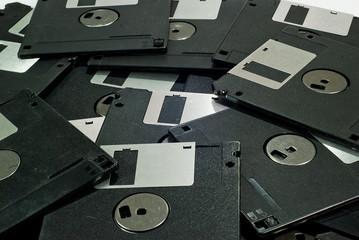 closeup floppy disk