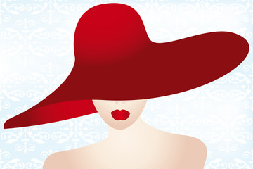 Portrait of the lady with the red hat