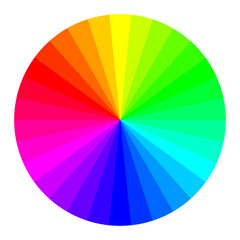 Circle of RGB Colors, color wheel with separate colors