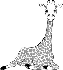 Grinsende Giraffe