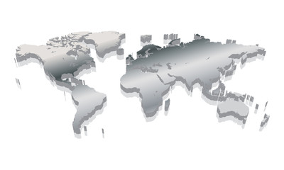 World map 3D vector