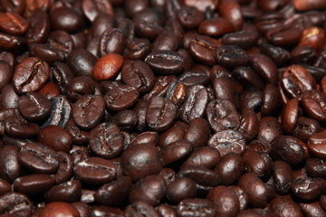 background of roast coffe beans