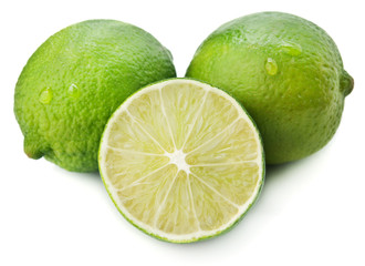 green limes isolated