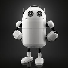 Spoed Foto op Canvas Robots Single standing robot