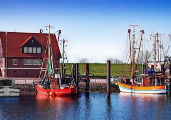 Krabbenfischer im Hafen