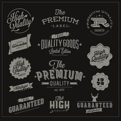 Premium Quality and Satisfaction Guarantee Label