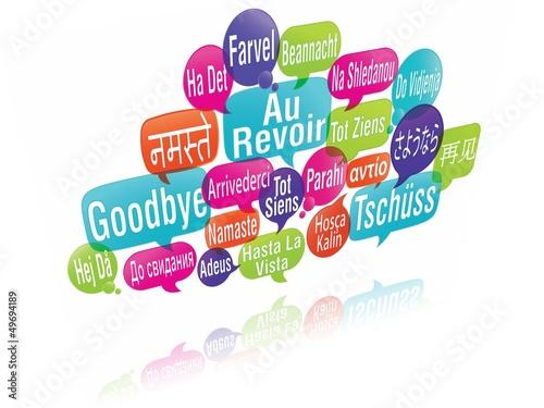 nuage de mots bulles 3d au revoir photo libre de droits sur la