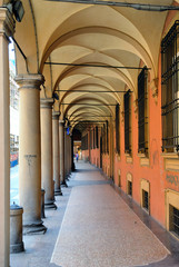 Italy, Bologna old medieval typical portico