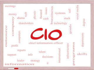 CIO Word Cloud Concept on a Dry Erase Board