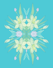 Floral narcissus pattern
