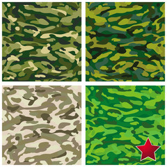 patterns military camouflage set
