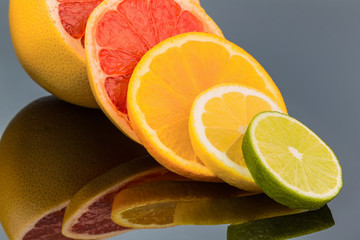Canvas Prints Slices of fruit Orangenscheiben