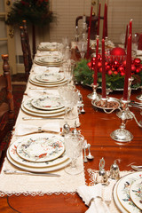Formal Table with Christmas Decorations