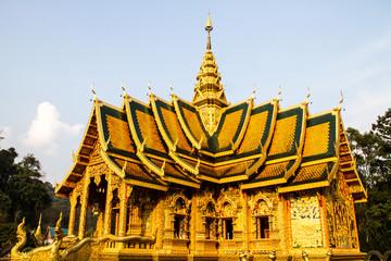 golden  church wat phrabahtseeroy chiangmai Thailand