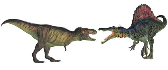 tyrannosaurus contre spinosaurus