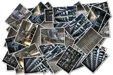 collage with industrial images