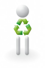 3d – people recycling