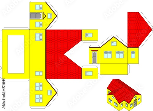 photograph regarding Free Printable 3d Buildings known as Printable 3d paper craft of a Room\