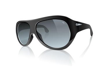 Cool Photo Realistic Black Sunglasses: Raster Version