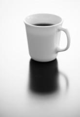 Single cup of black coffee
