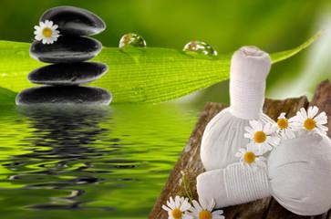 Kräuterstempel zur Massage mit Kamille
