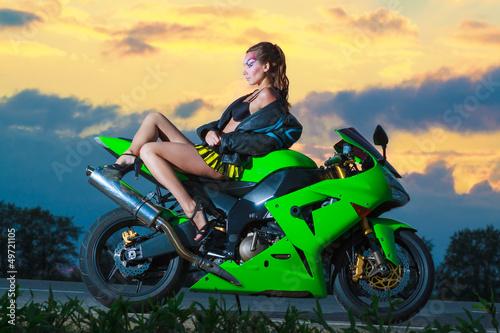 Fototapete Beautiful Biker
