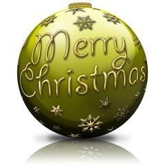 Merry Christmas, Christbaumkugel, Gelb