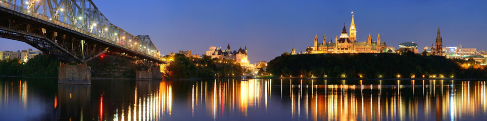 Acrylic Prints Canada Ottawa at night