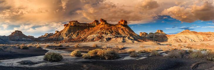 Zelfklevend Fotobehang Diepbruine Bisti Sunset