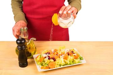 Salting a salad