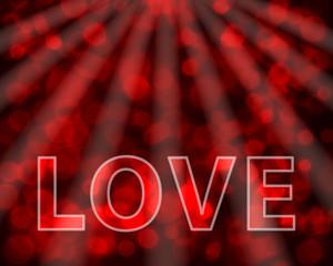 Glittering Valentine's Day illustration