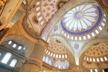 Interior view of Blue Mosque (Sultanahmet)