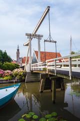 Ancient bridge in the Dutch village Edam