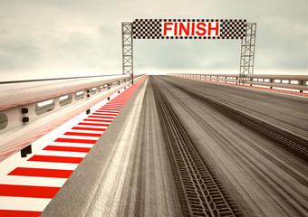tyre drift on race circuit finish line