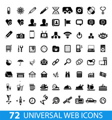 Set of 72 universal web icons