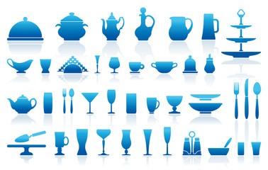 Icons of ware for table layout