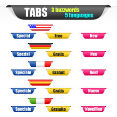 tabs 3 buzzwords 5 languages I